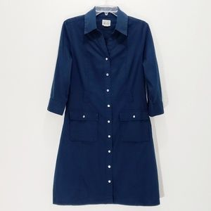 Converse Shirt Dress Utility Cargo Button Down EUC